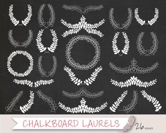 Laurel Clipart, Wreath Clipart, Doodle Clip Art ...