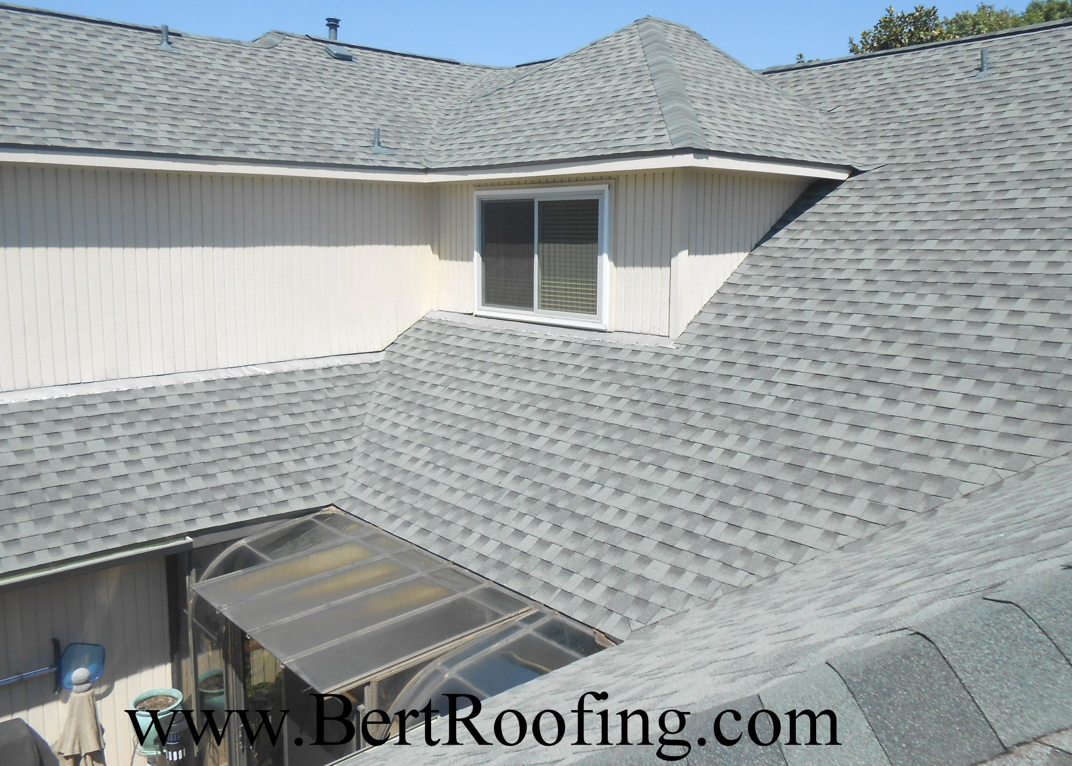 Gaf Armorshield Ii Class 4 Impact Resistant Composition Shingle Color Slate Installed By Bert Roofing Inc Of Dallas I Roofing Roofing Contractors Shingling