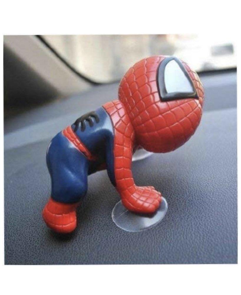 Cute Spider Man Suction Cup Doll Car Display Window Mirror Dashboard Decoration
