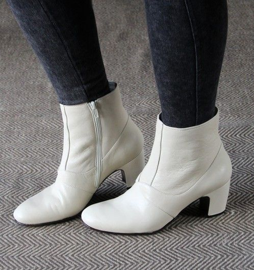 ENZEL WHITE :: BOOTS :: CHIE MIHARA SHOP ONLINE