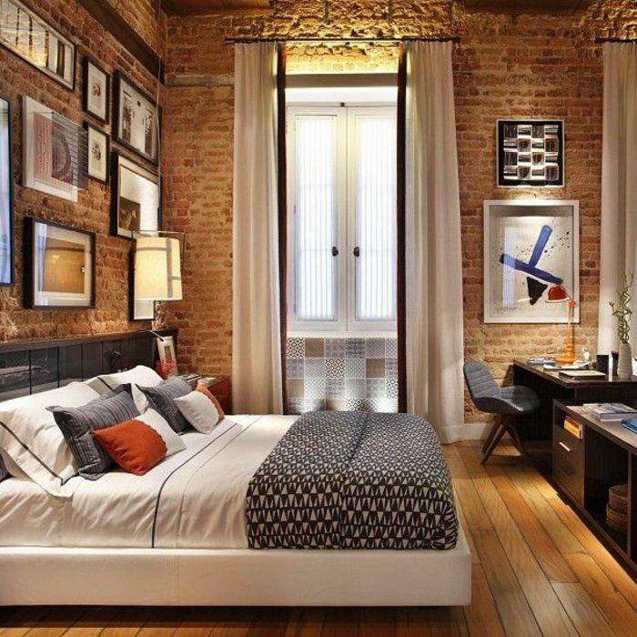 Le mur en brique d cors spectaculaires mur en brique briqu - Chambre a coucher en solde ...