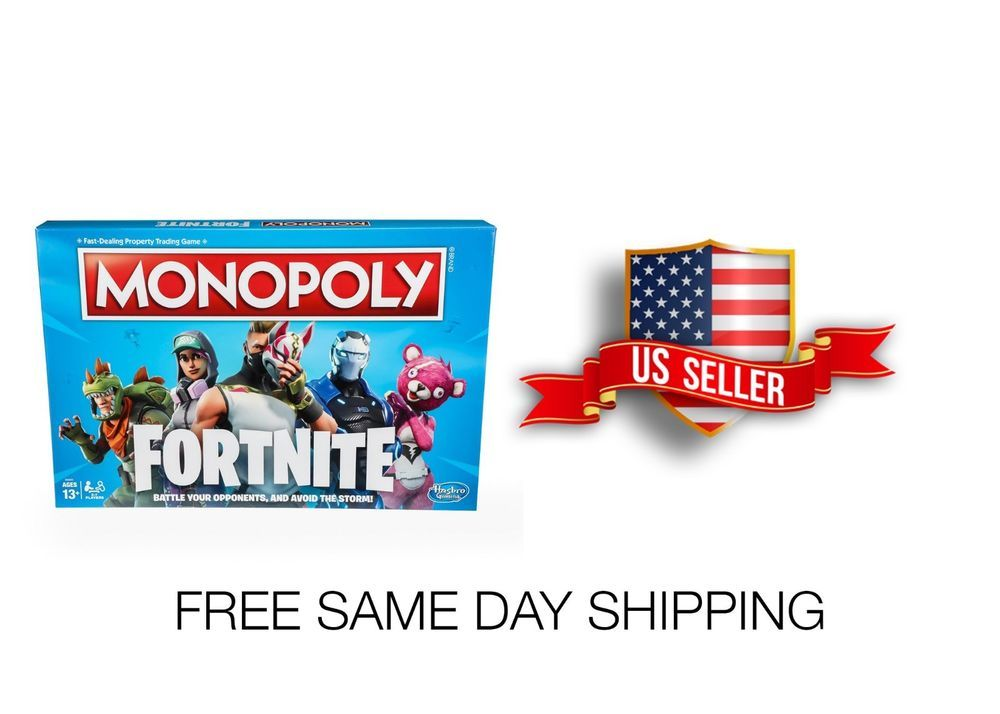 Monopoly Fortnite Edition Board Game Free Same Day Shipping