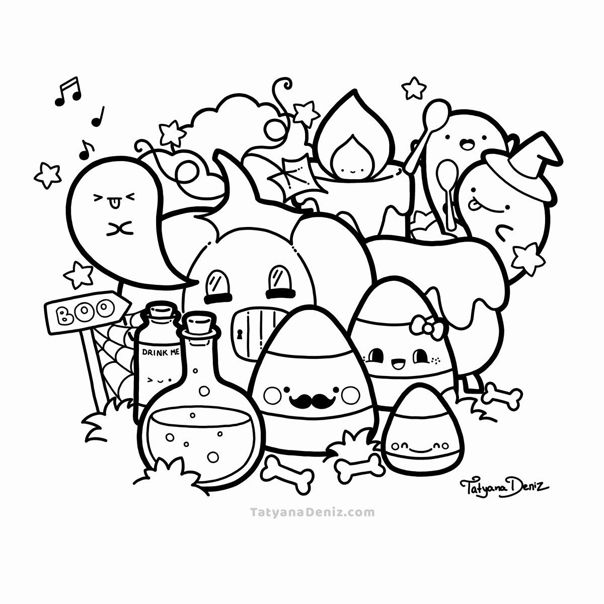 Halloween Kitty Coloring Pages Awesome Coloring Page Halloween Coloring Pages Pdf Page Kawaii In 2020 Chibi Coloring Pages Cute Coloring Pages Halloween Coloring Pages
