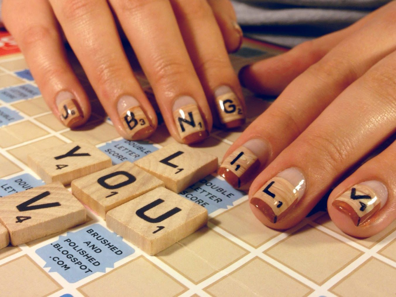 Scrabble Nail Art A Manicure To Beat The Winter Blues With Nail