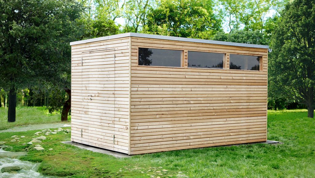 design gartenhaus holz l rchenholz mit flachdach gartenhaus in 2019 gartenhaus. Black Bedroom Furniture Sets. Home Design Ideas