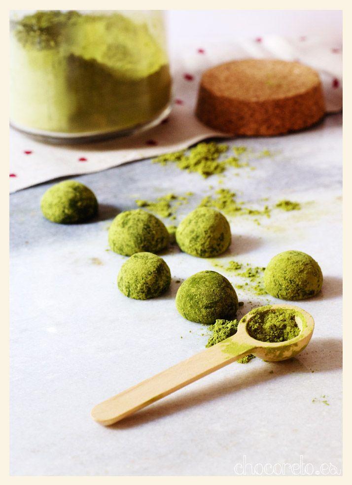 Trufas de té verde matcha