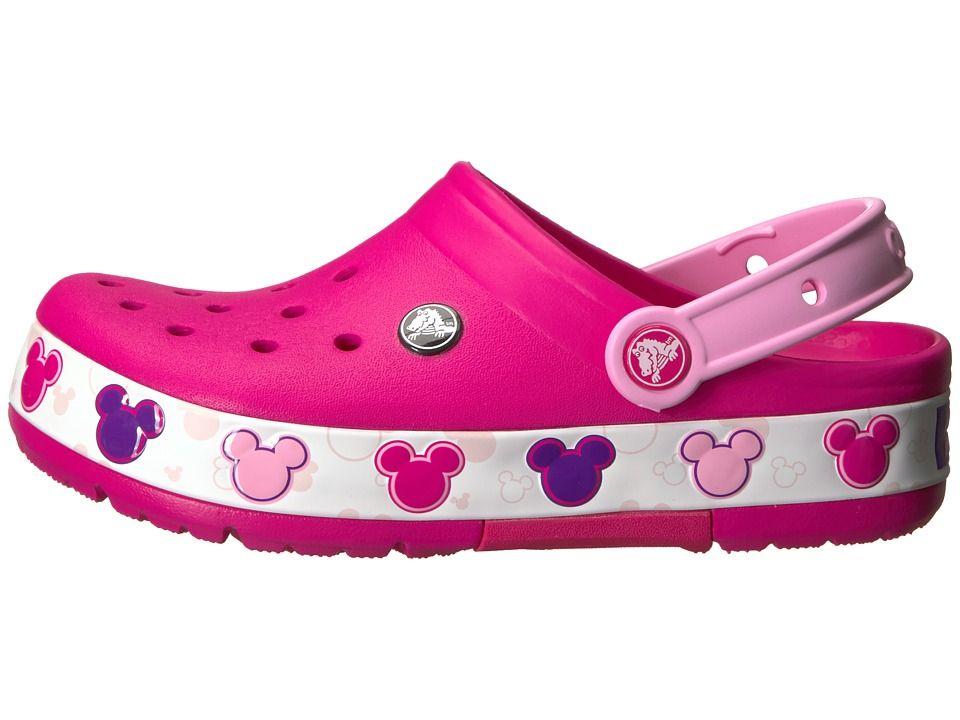 283b0252783a Crocs Kids Crocband Mickey Fun Lab Lights Clog (Toddler Little Kid) Kids  Shoes Candy Pink