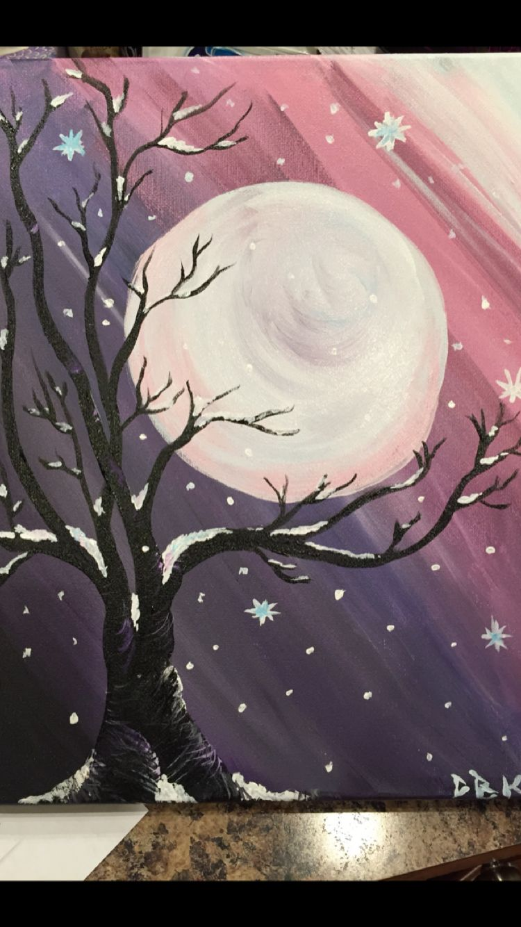 Pin By Safiye On Paint Night Ideas Painting Canvas Painting Diy Night Painting