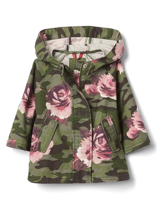 7b906bdc5 Little girls floral camo jacket. Children and Young. Floral camo parka  poncho