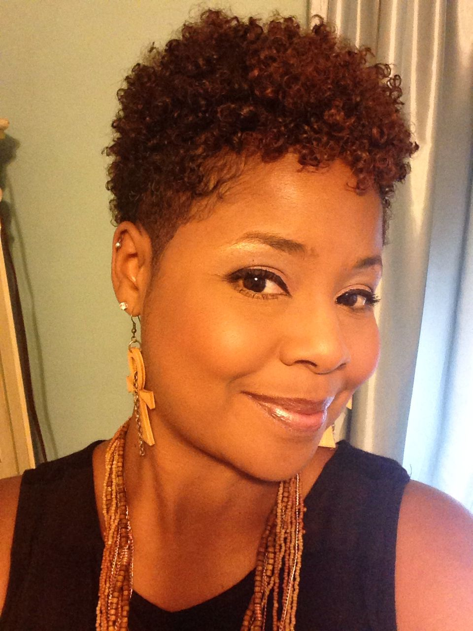 styles for natural short hair freshly cut faux hawk ankh earrings courtesy of 1767 | b7b38c571ad478a21c1f6572978b223a