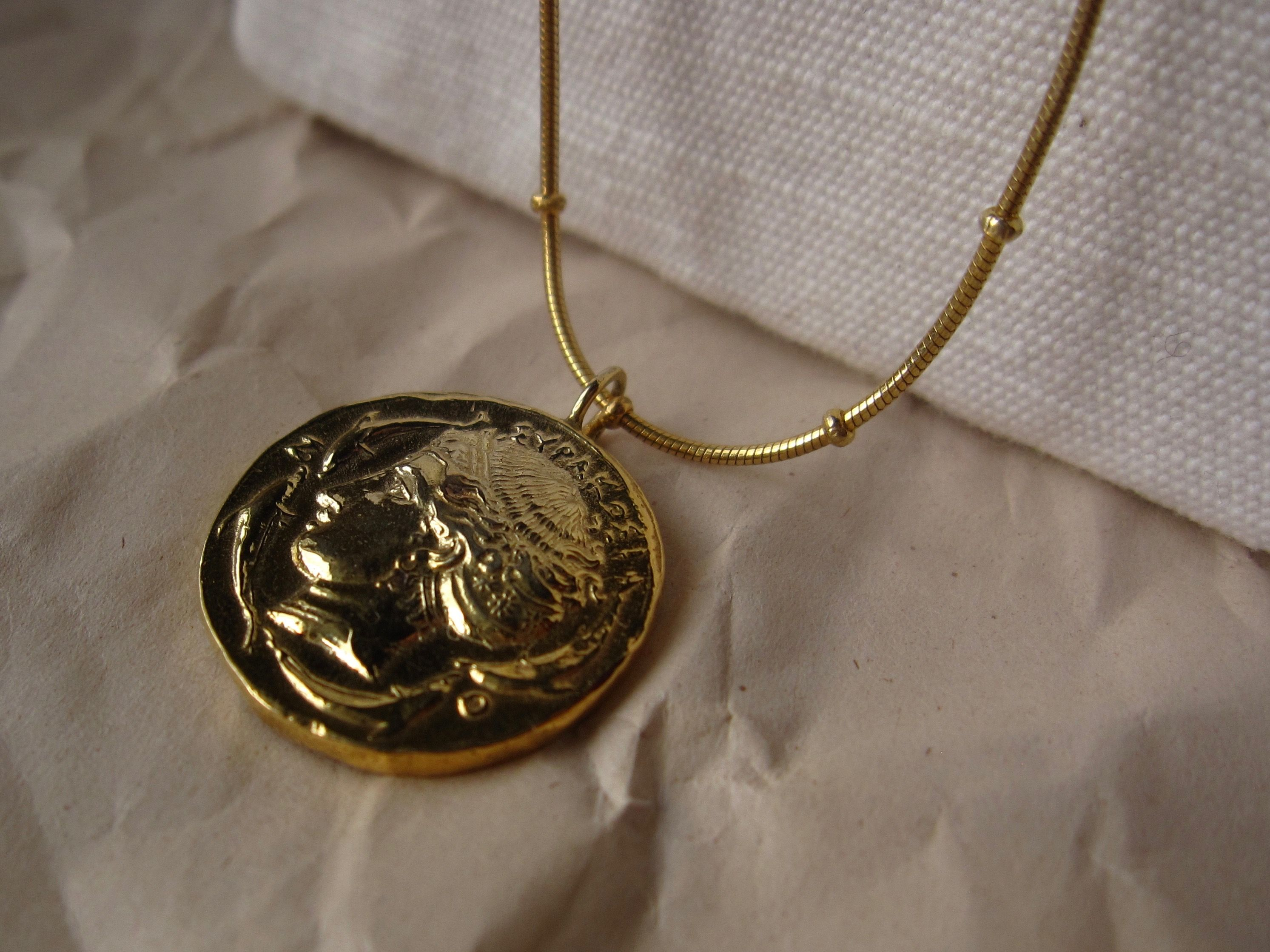 original aphrodite by and sigi mini notonthehighstreet product black pendant gold com necklace blackandsigi