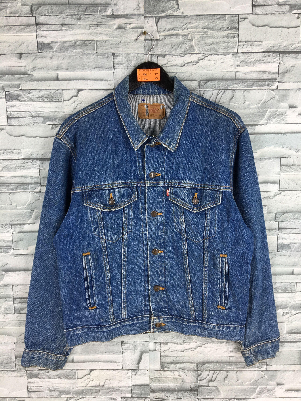 Vintage Levis Trucker Denim Jeans Jacket Medium Levis Jeans Etsy Denim Jean Jacket Vintage Denim Jacket Denim Chic [ 3000 x 2250 Pixel ]
