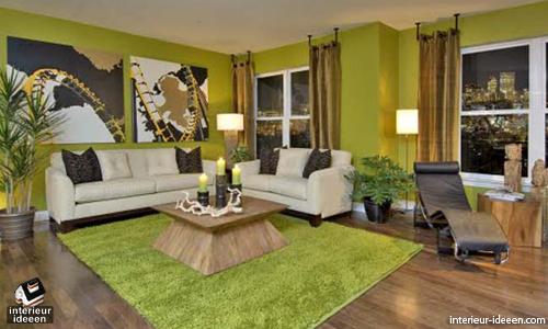 groene-woonkamer-5 Mooie kleur groen op de wanden   woonkamer ideeën ...