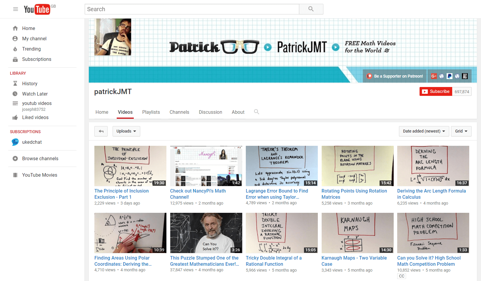 A huge bank of maths tutorial videos on a range of areas, including ...