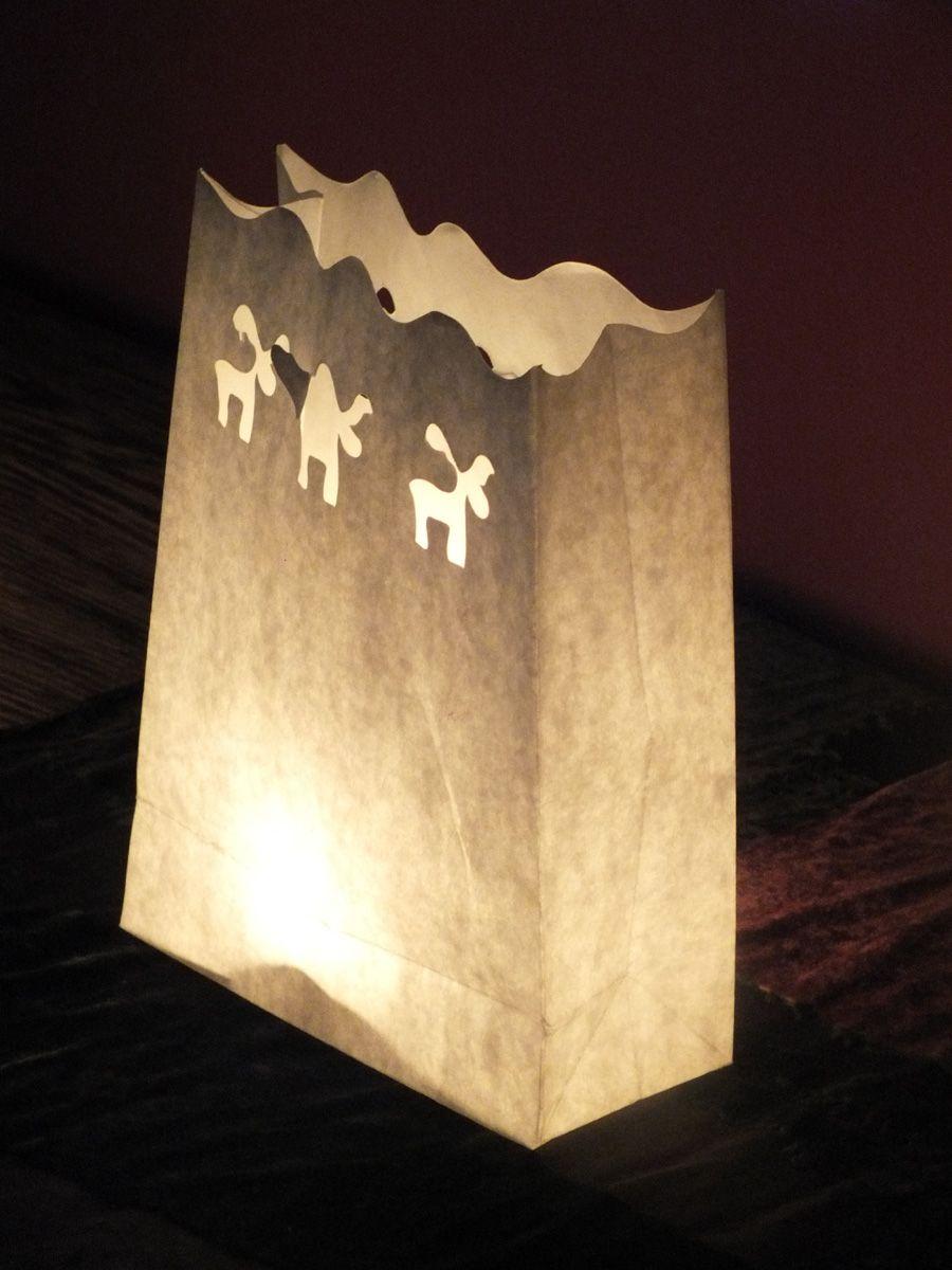 Detalle del farolillo de papel. Con una pequeña vela de té, el resultado: sorprendente.
