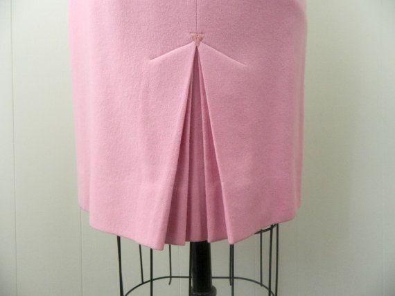 Vintage Pencil Skirt .. 1960s Pink Skirt by bottleblondevintage, $20.00