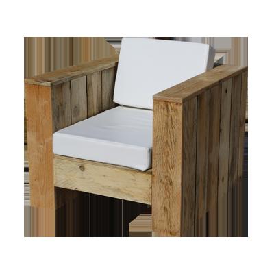 Assise wood meuble design en bois recycl plant pour for Meuble exterieur metal