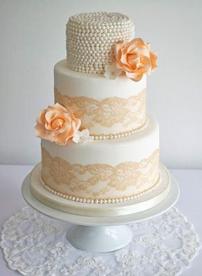 Gold Ivory Peach And Lace Wedding Some Peaches And Cream Sugar