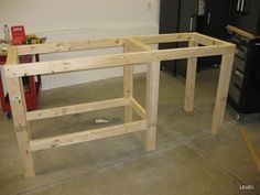 simple workbench build the garage journal board home