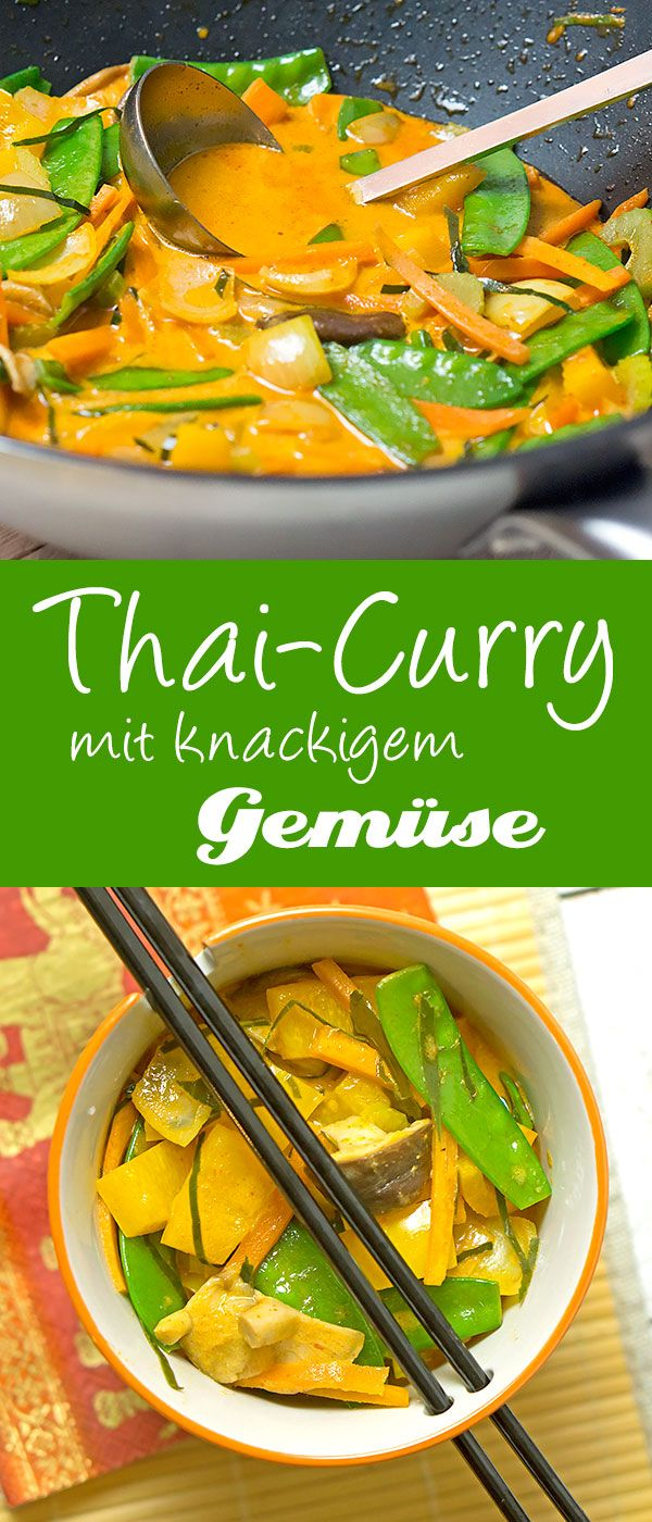Photo of Thai curry with crunchy vegetables