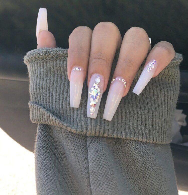 Truubeautys💧 Nails In 2019 Rhinestone Nails Cute Acrylic Nails Nails