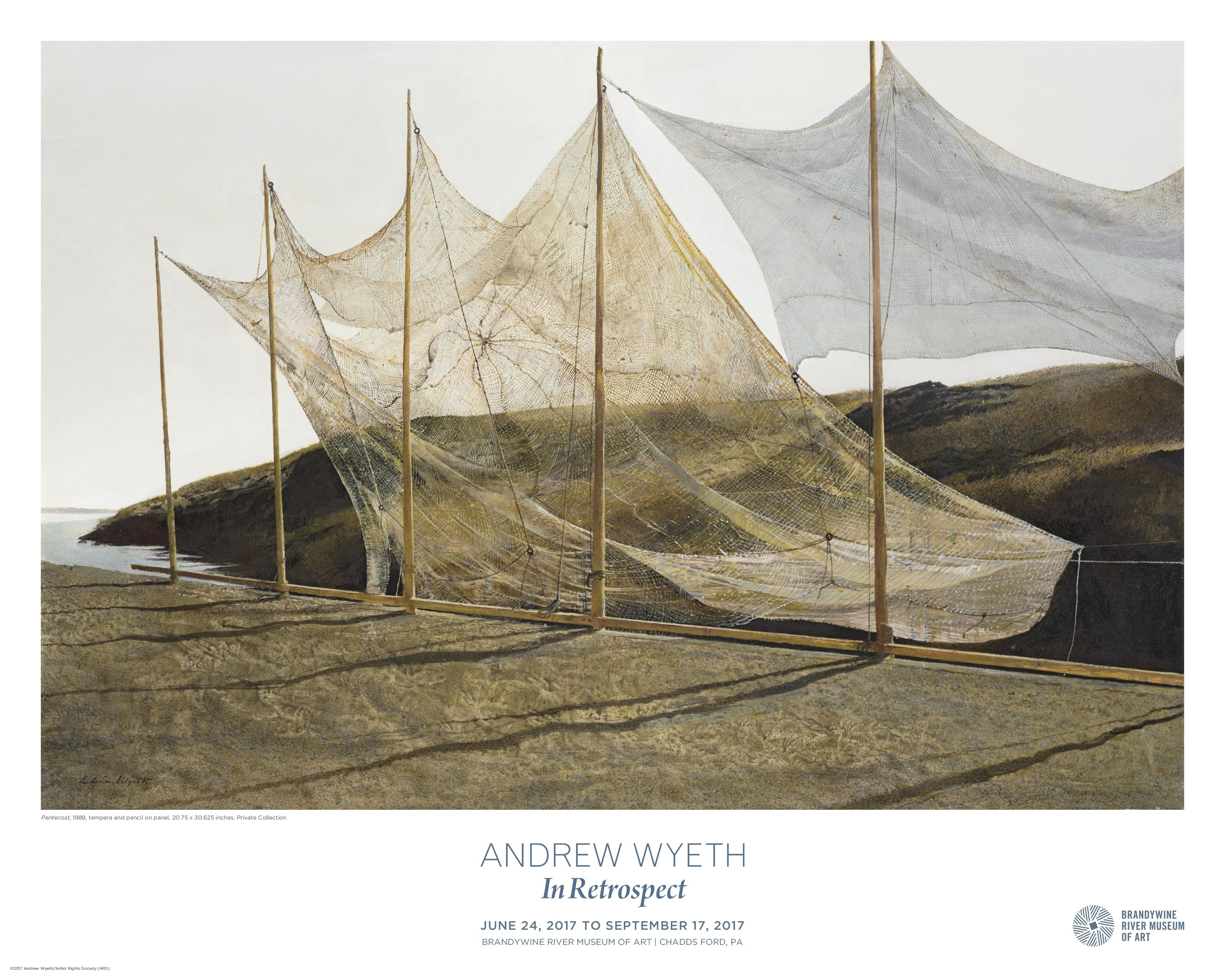 Commemorative Andrew Wyeth Poster For Brandywine River Museum Of