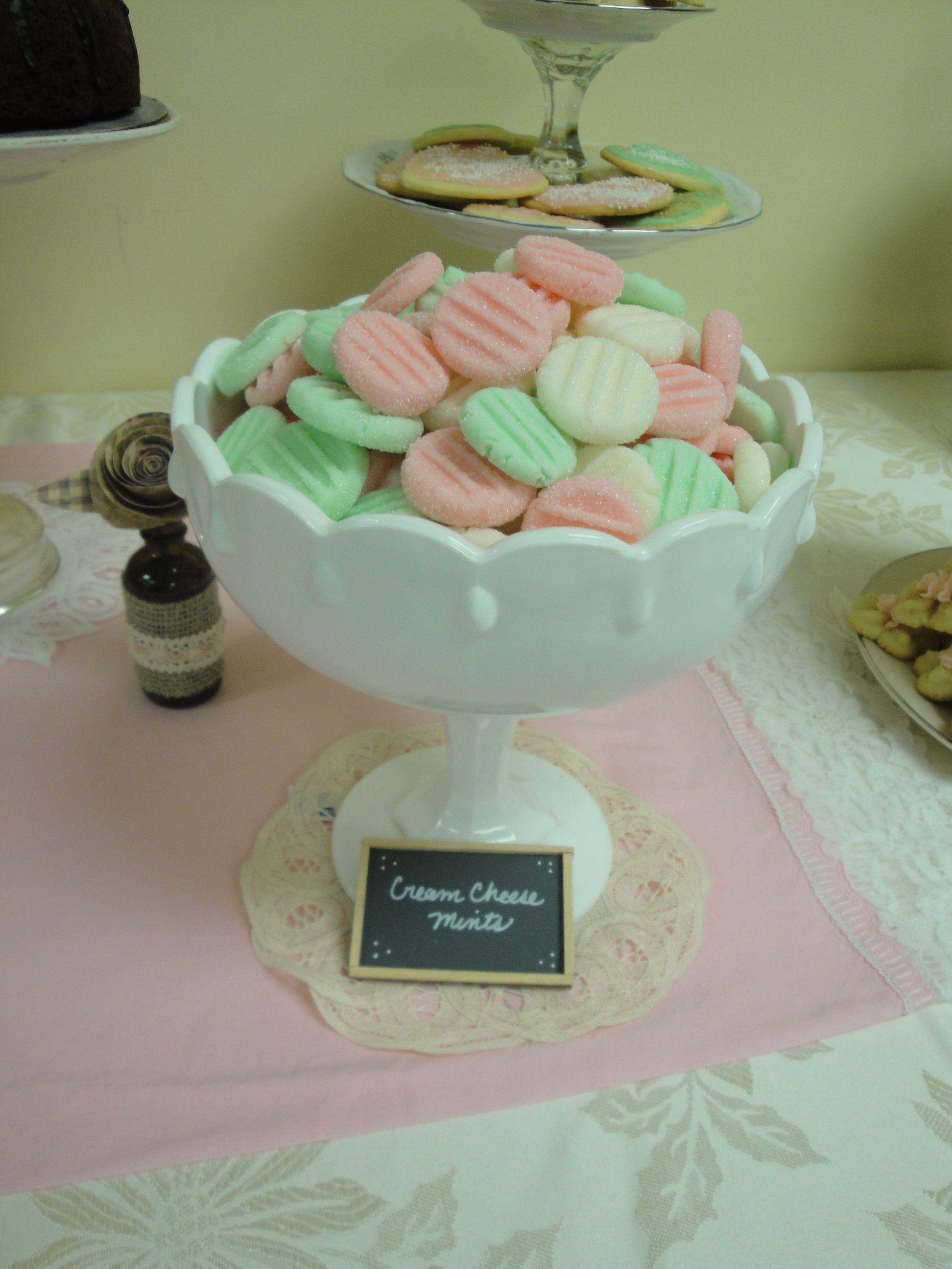 Cream cheese mints | Katie\'s High Tea Bridal Shower | Pinterest ...