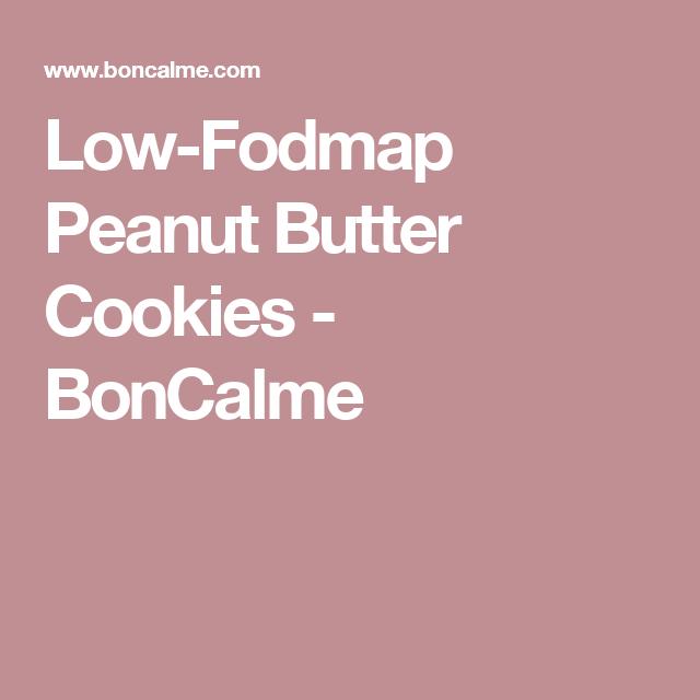 Low-Fodmap Peanut Butter Cookies - BonCalme