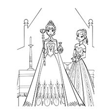 50 Beautiful Frozen Coloring Pages For Your Little