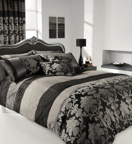 Apachi Super King Size Duvet Cover Bedding Set Black Silver Stylishbedrooms Http Www Amazon Co Uk Dp B00eudylp8 Ref C Bed King Size Duvet Covers Bed Covers