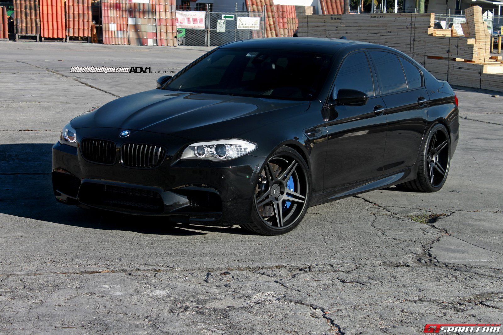 Black Bmw F10m M5 On 21 Inch On Adv 1 Wheels With Images Bmw