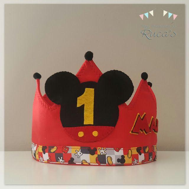 Corona cumpleaños Mickey Mouse  b29967a4252