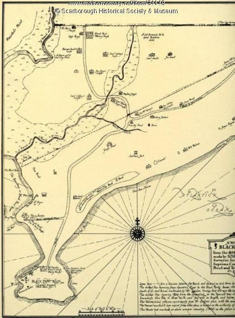 This Map Shows Some Of The Early Landowners In Scarborough