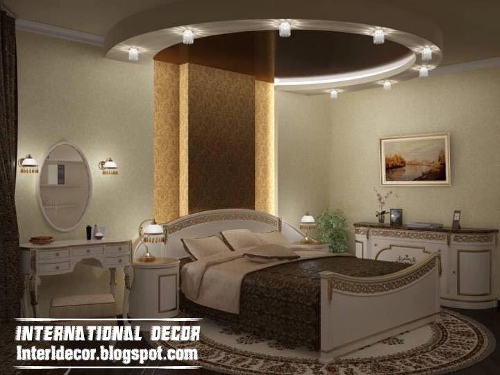 Attractive bedroom gypsum ceiling designs modern bedroom for Bedroom gypsum design
