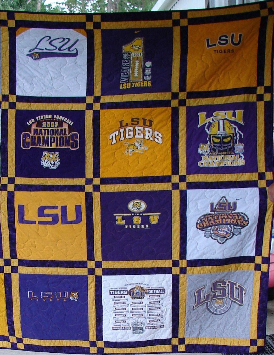 T-shirt Quilt -Made to Order-Double Sashing (12 Blocks). $190.00 ... : order t shirt quilt - Adamdwight.com