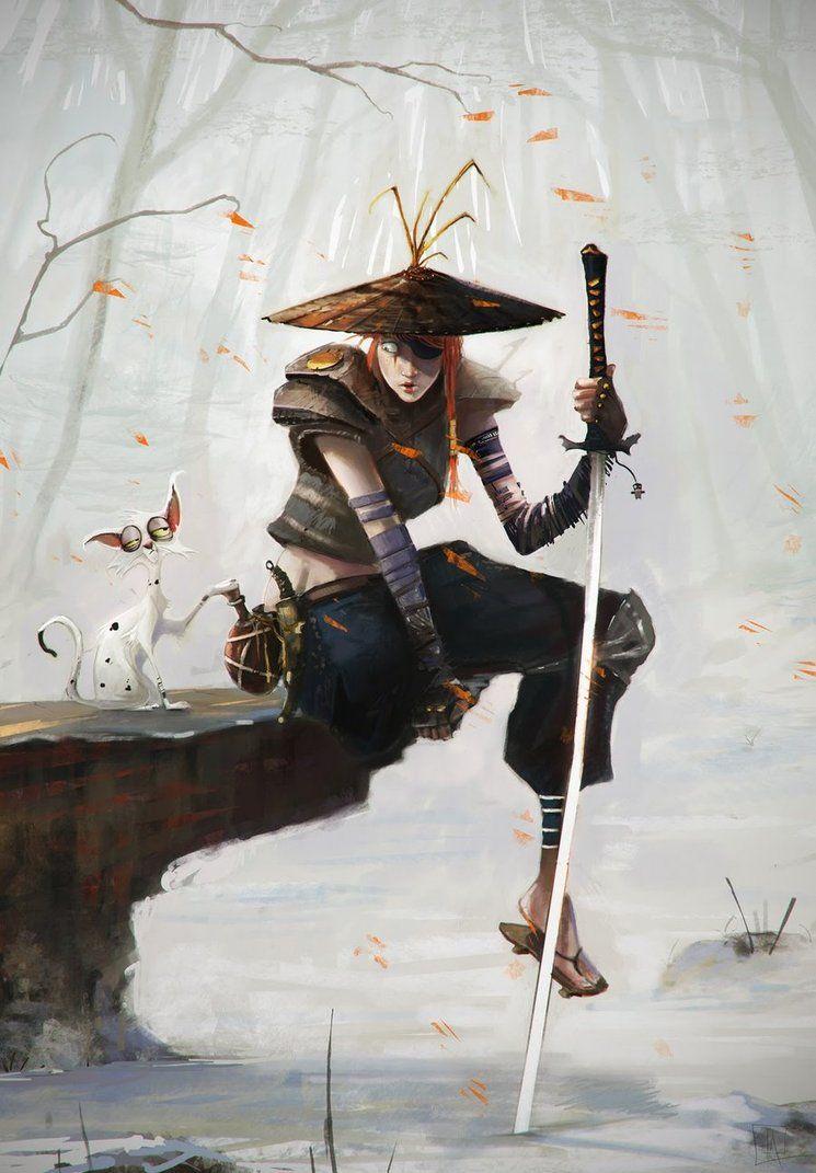 Samurai_Cat by AlexanderBrox0101 on deviantART Samurai