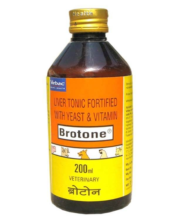 Virbac Brotone Liquid Liver Tonic 200ml Pet Health Care Tonic Dog Medicine