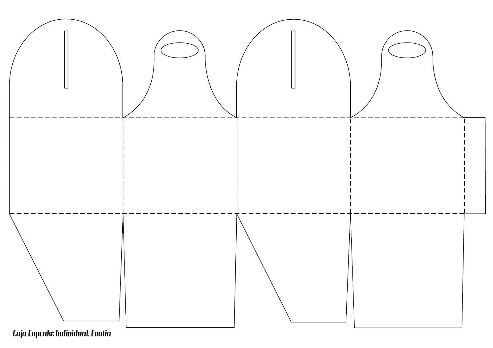 CAJA+CUPCAKE+blanco.jpg (1600×1131) | Cajas y sus moldes | Pinterest ...
