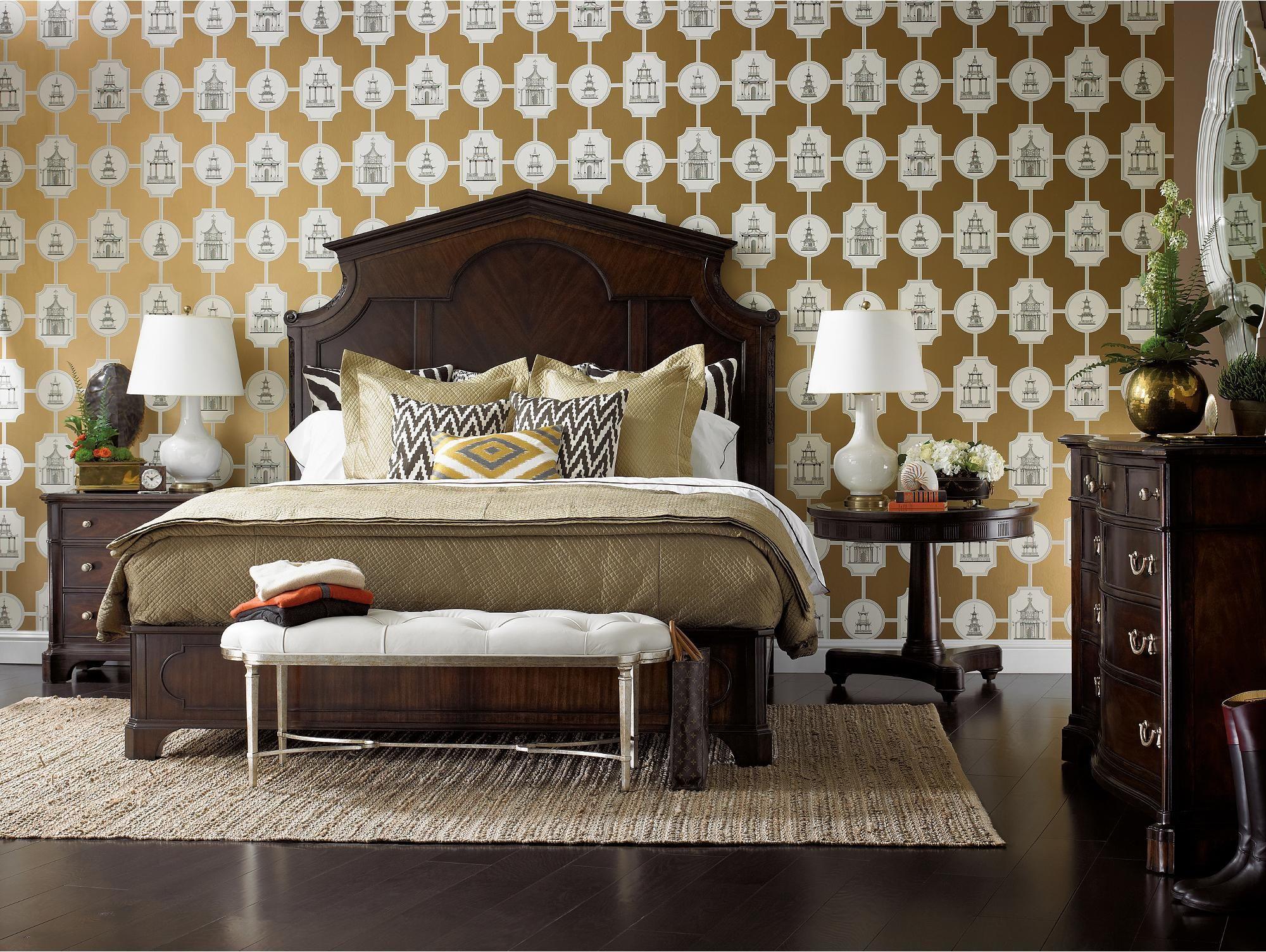 Dark classic mahogany bedroom furniture charleston regency collection