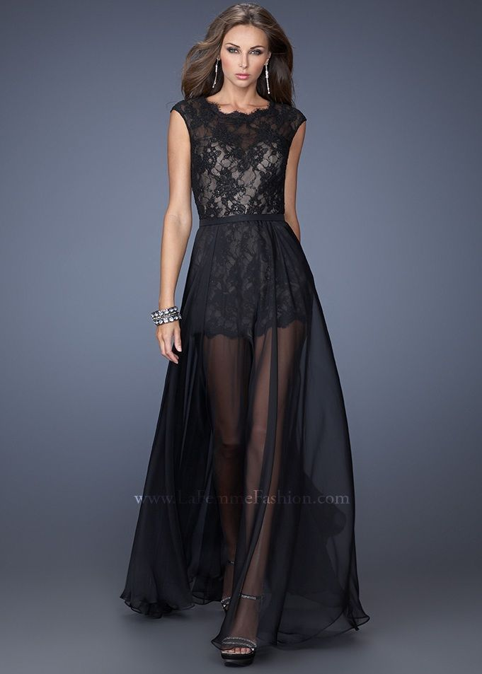 Black La Femme 19895 Lace Long Prom Dress.jpg (681×953)   prom ...