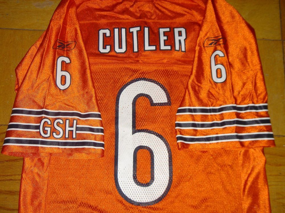 10d862281bb ... extra large 4630a d47cd; top quality chicago bears jersey 6 jay cutler  orange nfl authentic reebok gsh size small 46