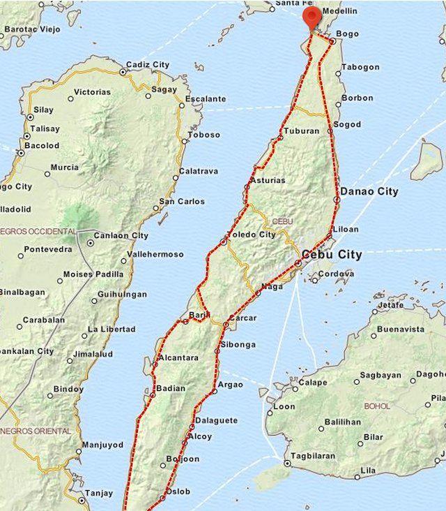Cebu Island scooter road trip lifeinthephilippines Maps