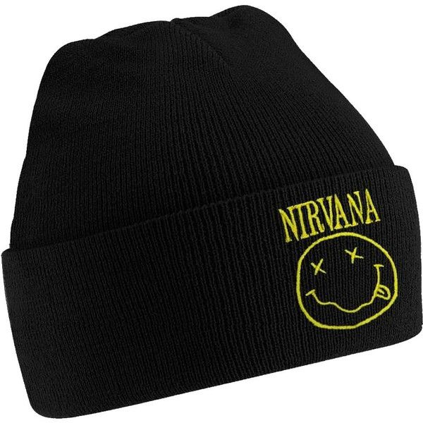 a1272c870 Nirvana Beanie Grunge Beanie Kurt Cobain 90s ($15) ❤ liked on ...