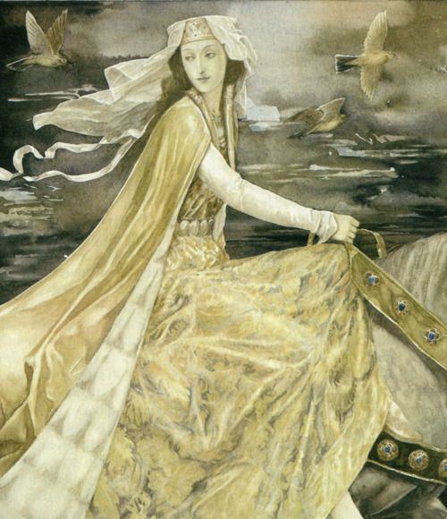 Beautiful illustration by Alan Lee for the collection of Welsh legends, The Mabinogion.
