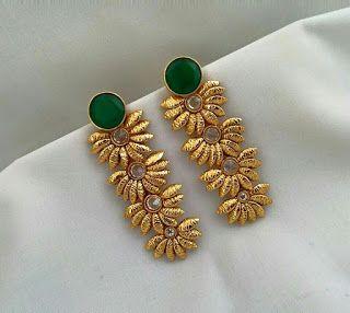 7bf035957 Fancy golden earring designs - Latest Jewellery Design for Women | Men  online - Jewellery Design Hub