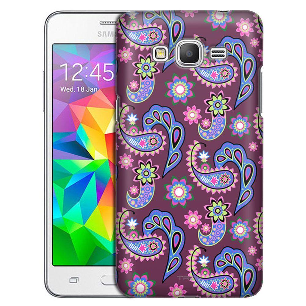 Samsung Grand Prime Paisley Pastel on Plum Case