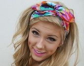 ROCKABILLY Headband Reversible Wired Fabric PIN UP by Nachibands