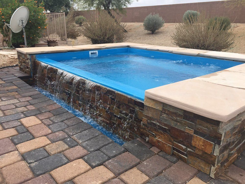 Above Ground Fiberglass Pools Google Search Small Backyard Pools Small Pool Design Swimming Pools Backyard