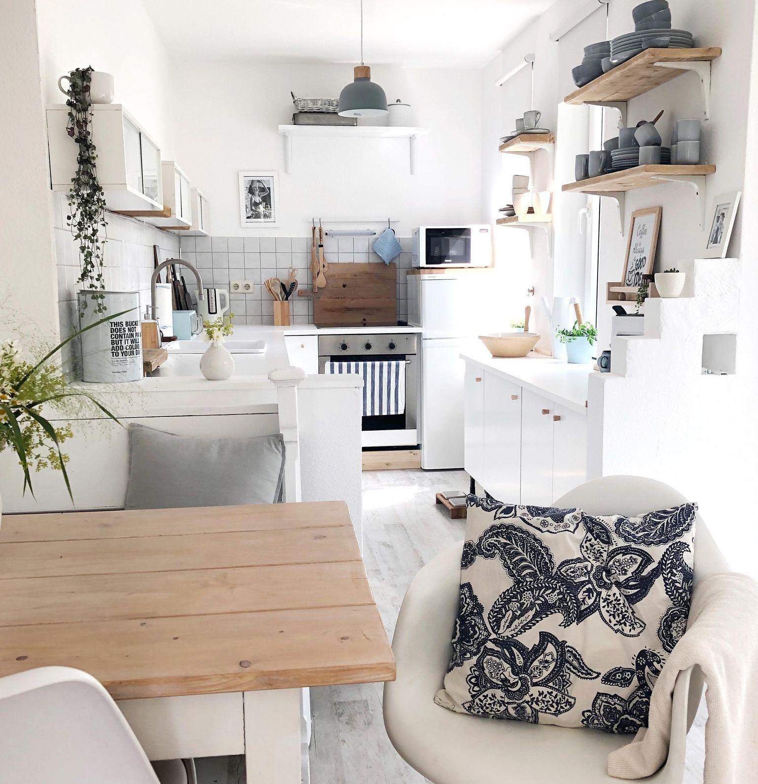Klein , aber fein 😊#kitchen#scandistyle#whitehome#livingchallenge