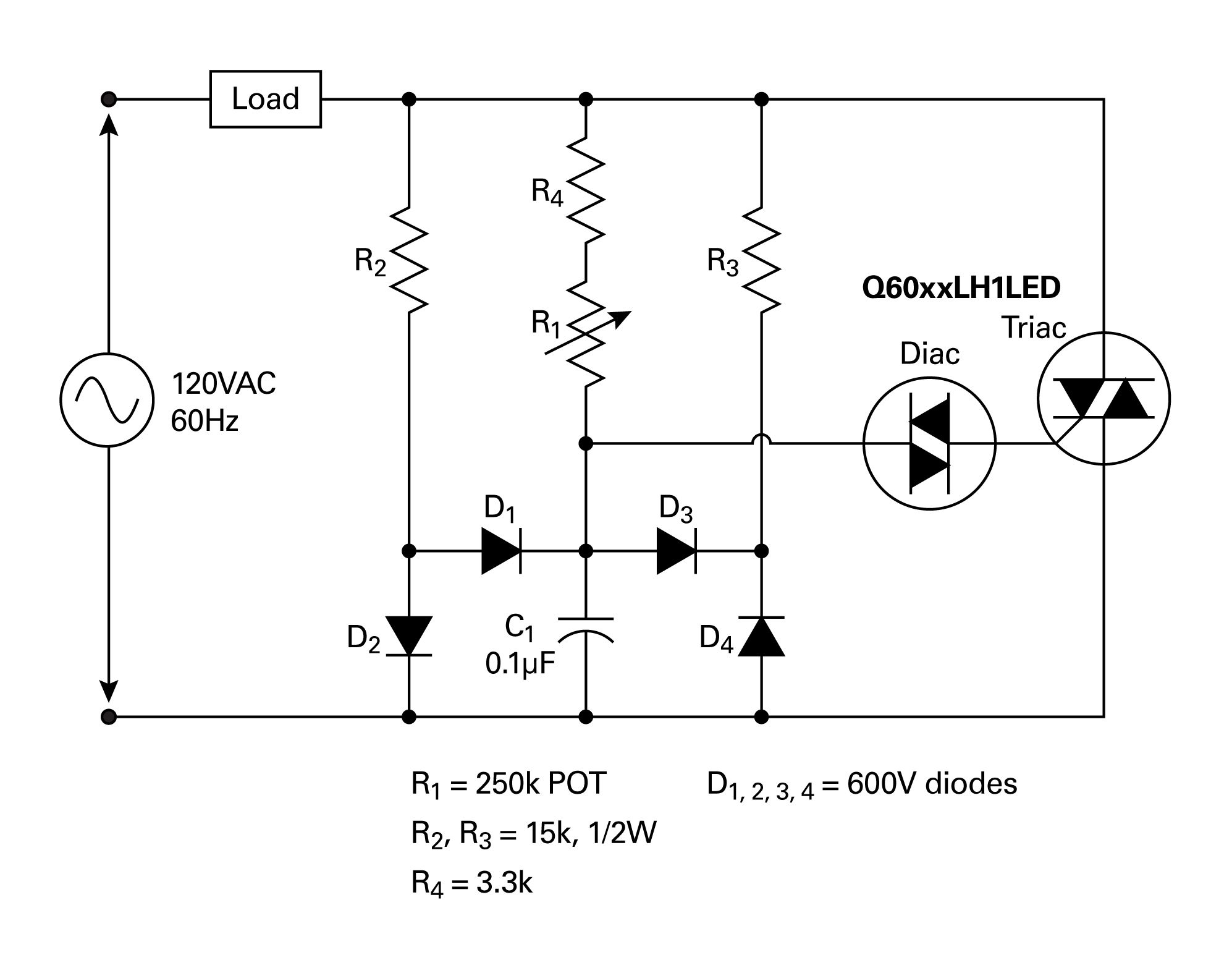 dimmer circuit using scr triac eleccircuitcom dimmers